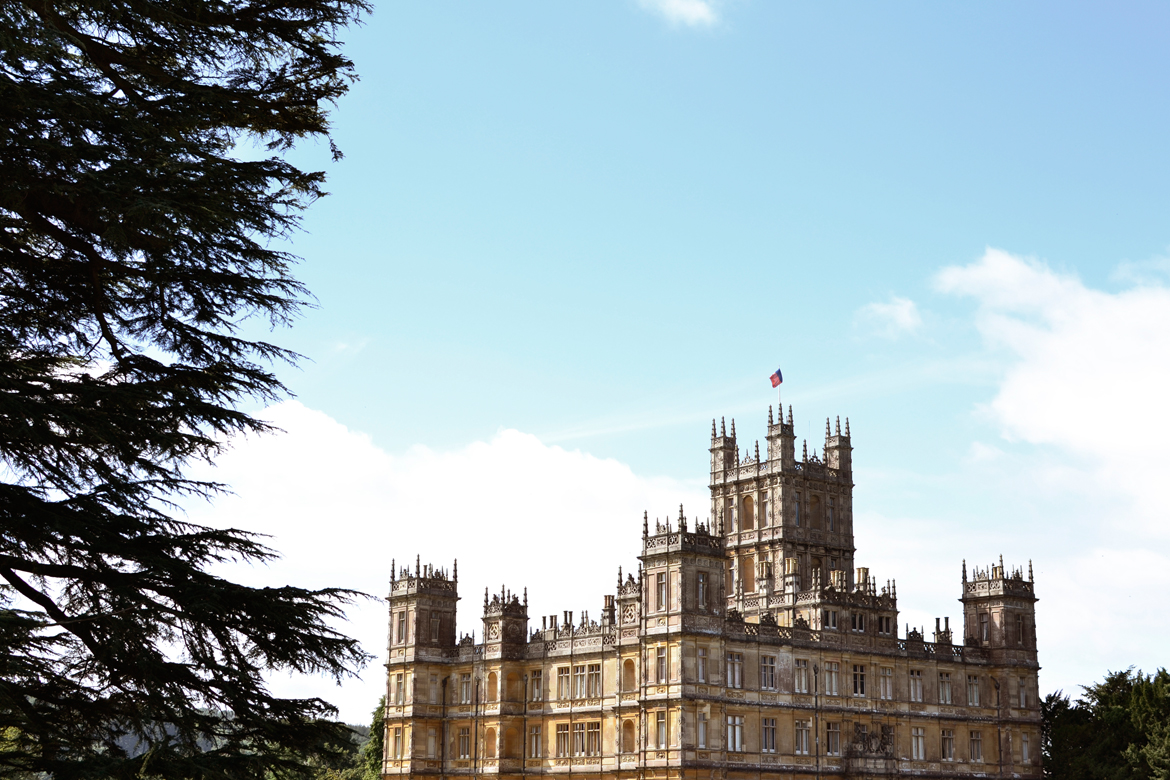 highclere castle postcard view